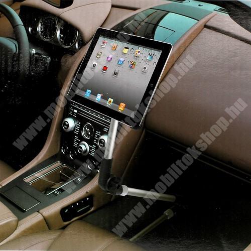 """UNIVERZÁLIS tablet PC gépkocsi / autós tartó - 105-200mm-ig állítható bölcső, üléssínhez vagy falra is rögzíthető, 7-10.1""""-os készülékekhez"""