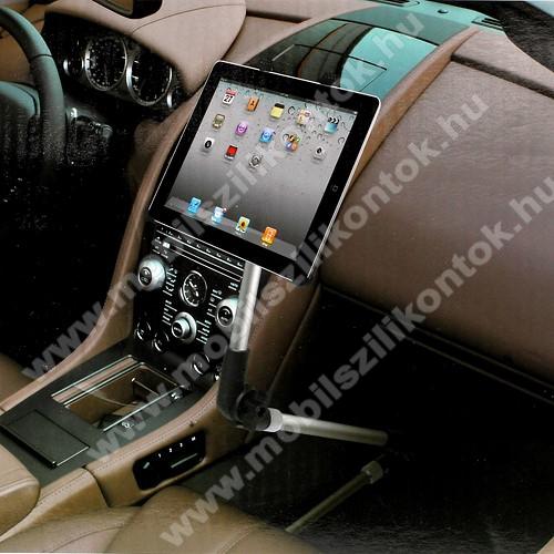 UNIVERZÁLIS tablet PC gépkocsi / autós tartó - 105-200mm-ig állítható bölcső, üléssínhez vagy falra is rögzíthető, 7-10.1