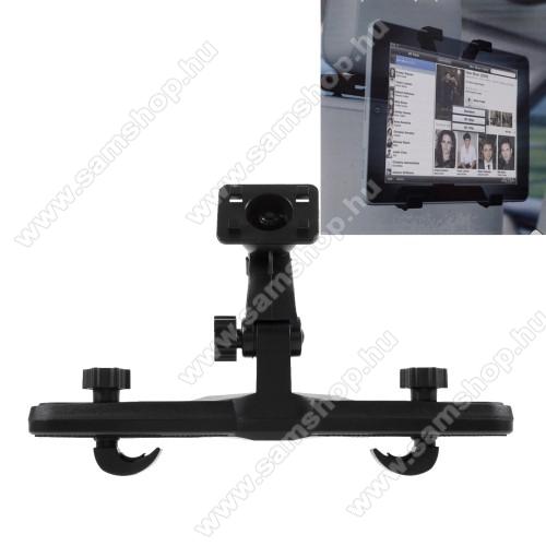UNIVERZÁLIS tablet PC gépkocsi / autós tartó - 360°-ban elforgatható, fejtámlára szerelhető tartóval, 4.7-11