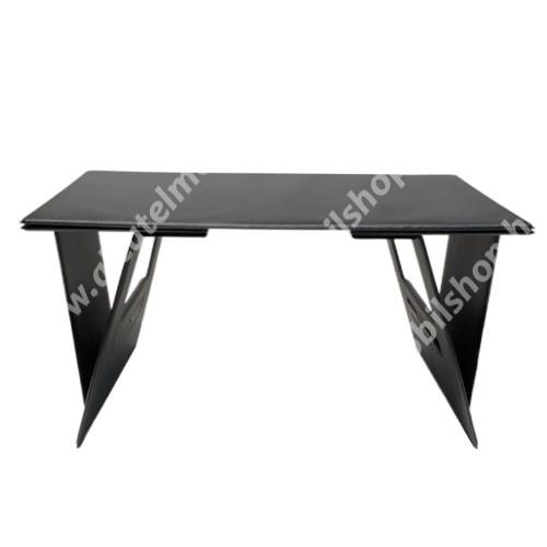 UNIVERZÁLIS Tablet PC, Laptop tartó / asztali állvány - összecsukható, ágyban is használható, állítható szög, 25 x 45 x 1.5 cm - FEKETE