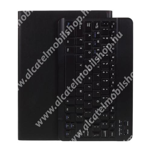 """UNIVERZÁLIS tablet PC notesz / mappa tok - oldalra nyíló, mágneses záródás, asztali tartó funkció, kivehető bluetooth billentyűzet (ANGOL KIOSZTÁSÚ!), 9.7-10""""-os készülékekhez ajánlott - FEKETE"""