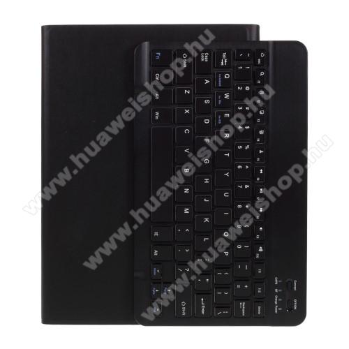 UNIVERZÁLIS tablet PC notesz / mappa tok - oldalra nyíló, mágneses záródás, asztali tartó funkció, kivehető bluetooth billentyűzet (ANGOL KIOSZTÁSÚ!), 9.7-10