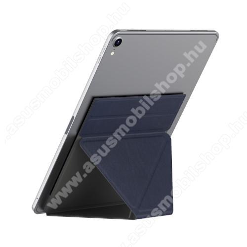 ASUS Zenpad Z10 (ZT500KL)UNIVERZÁLIS Tablet PC tartó / asztali állvány - SÖTÉTKÉK - ragasztós rögzítés, 4,7 mm-es ultravékony kialakítás, háromszög alakú, összecsukható, 150x210x4.7mm - 9,7
