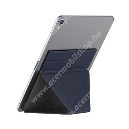 """ACER Iconia Tab A200 UNIVERZÁLIS Tablet PC tartó / asztali állvány - SÖTÉTKÉK - ragasztós rögzítés, 4,7 mm-es ultravékony kialakítás, háromszög alakú, összecsukható, 150x210x4.7mm - 9,7""""-nál nagyobb táblagépekhez ajánlott"""
