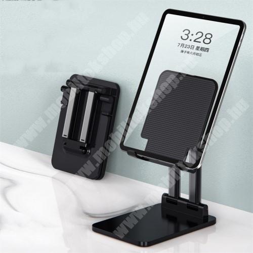 """PRESTIGIO MultiPad 8.0 PRO DUO UNIVERZÁLIS Tablet PC tartó / asztali állvány - csúszásgátló, összecsukható, állítható magasság 13-20cm-ig és dőlésszög, 7-14""""-os készülékekhez ajánlott - FEKETE - 10 x 2,8 x 14 cm"""