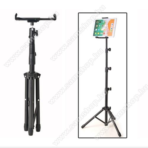 SAMSUNG SGH-i600 BlacUNIVERZÁLIS Tablet PC tartó / tripod állvány -  360°-fokban forgatható, alumínium, tripod, állítható magasság 52 cm-től 140 cm-ig, állítható bölcső 20.5-32 cm-ig, 4