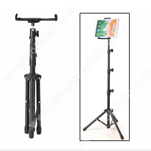 Asus A696UNIVERZÁLIS Tablet PC tartó / tripod állvány -  360°-fokban forgatható, alumínium, tripod, állítható magasság 52 cm-től 140 cm-ig, állítható bölcső 20.5-32 cm-ig, 4