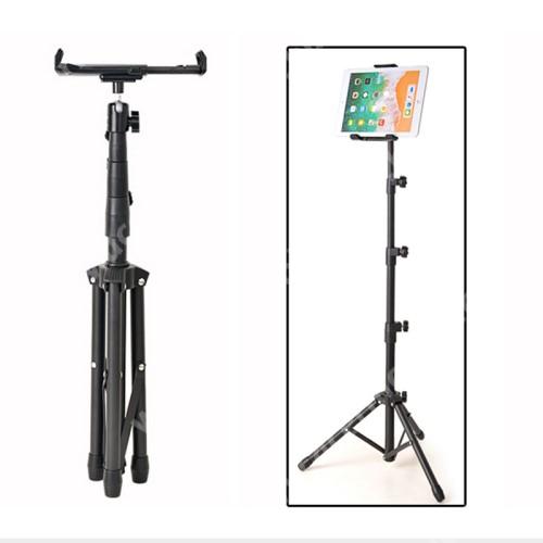 """ACER N311 UNIVERZÁLIS Tablet PC tartó / tripod állvány -  360°-fokban forgatható, alumínium, tripod, állítható magasság 52 cm-től 140 cm-ig, állítható bölcső 20.5-32 cm-ig, 4""""-12"""" készülékekhez - FEKETE"""