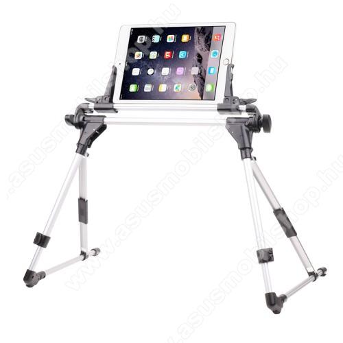 ASUS M530WUNIVERZÁLIS Tablet PC / telefon tartó / állvány - FEKETE / EZÜST -  360 °-fokban forgatható, alumínium, állítható magasság 27-35cm-ig, max 52cm szélesség, összecsukható 40x10cm, 4-7