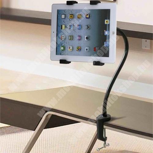 """PRESTIGIO MultiPad 8.0 PRO DUO UNIVERZÁLIS Tablet tartó / asztali állvány - 500mm-es felxibilis kar, csúszásgátló, asztalhoz rögzíthető bilincs 60mm(max), 360°-ban forgatható, 7-10.1""""-os készülékekez ajánlott - FEKETE"""