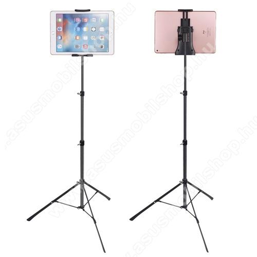ASUS Zenfone 2 Laser (ZE500KL)UNIVERZÁLIS Tablet / telefon tartó / állvány -  360 °-fokban forgatható, alumínium, tripod, összecsukható, állítható magasság 42-150cm,  max 12