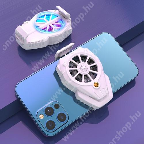 HUAWEI Honor 3 UNIVERZÁLIS telefonhűtő - háromfokozatú sebességállítás, beépített 300mAh akkumulátor, 5,38 x 8 x 3,1cm - FEHÉR