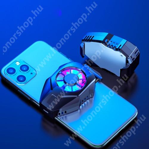 HUAWEI Honor 3 UNIVERZÁLIS telefonhűtő - Type-C port, 36 x 72 x 19 mm - FEKETE