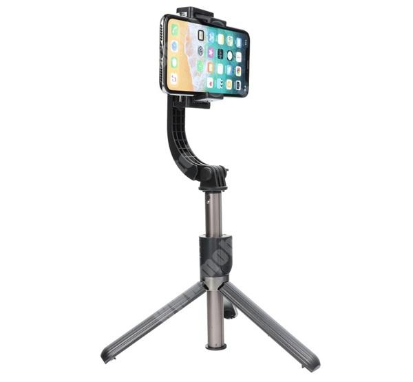 PHILIPS W5510 UNIVERZÁLIS teleszkópos selfie bot / stabilizátor / tripod állvány - BLUETOOTH KIOLDÓVAL, 360°-ban forgatható, 86cm magas - FEKETE
