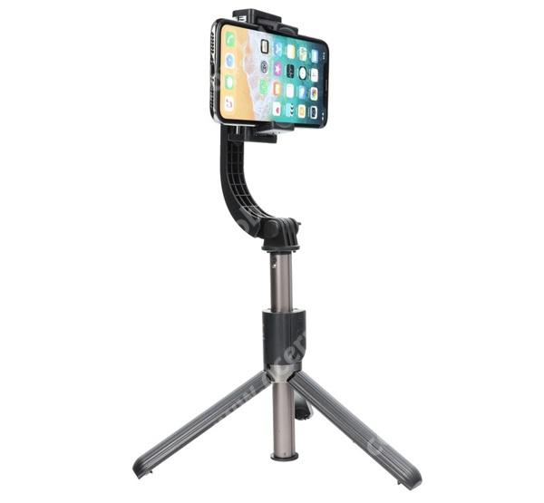 ACER Iconia Tab 8 A1-840FHD UNIVERZÁLIS teleszkópos selfie bot / stabilizátor / tripod állvány - BLUETOOTH KIOLDÓVAL, 360°-ban forgatható, 86cm magas - FEKETE