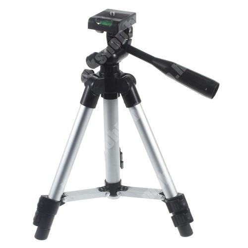 """Blackview R6 Lite UNIVERZÁLIS TRIPOD állvány - 1/4""""-os rögzítő univerzális csavarral, 90°-os függőleges 360°-os forgás, visszahúzható lábak, 29-61cm-ig állítható, CSAK AZ ÁLLVÁNY TARTOZÉK! - FEKETE / EZÜST"""