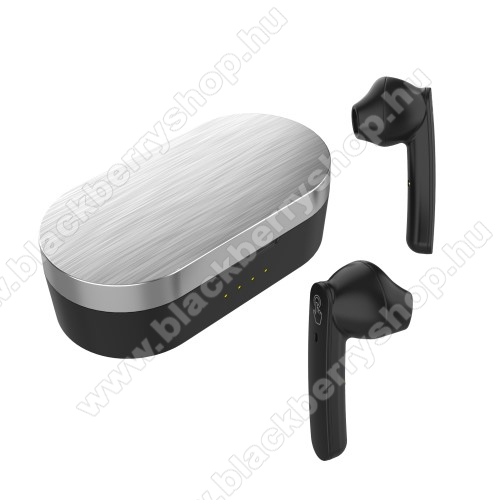 BLACKBERRY 8110 PearlUNIVERZÁLIS TWS SZTEREO BLUETOOTH HEADSET - v5.0+EDR, érintéssel vezérelhető, mikrofon, zajszűrő, 2-3 óra zenehallgatási idő, támogatja az fülhallgató külön használatát, 300mAh töltőtok - FEKETE