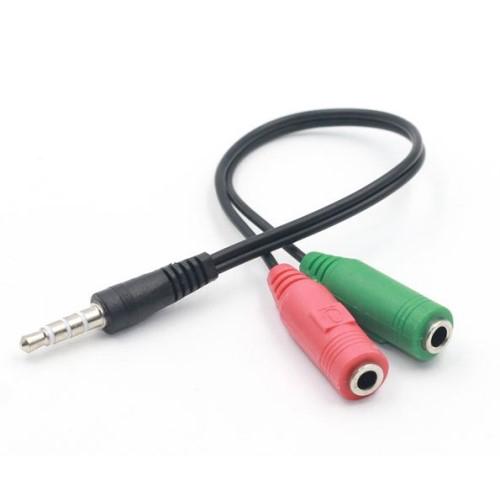 UNIVERZLIS 3.5mm Jack adapter / elosztó - FEKETE