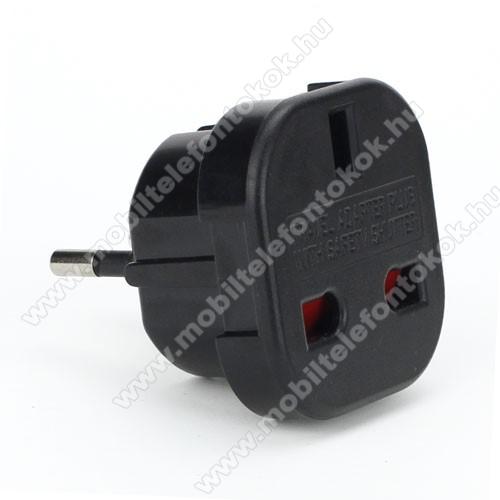 US EU utazó töltő / hálózati töltő adapter - Angol - Európai átalakító - FEKETE