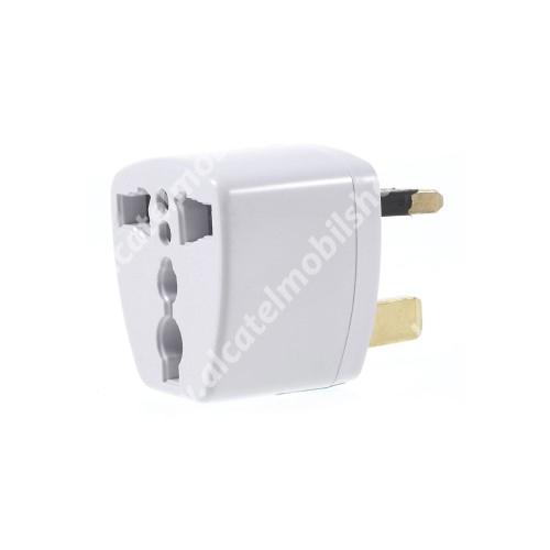 US UK EU AU 4 in 1 utazó töltő / hálózati töltő adapter - max 250V, 13A - FEHÉR