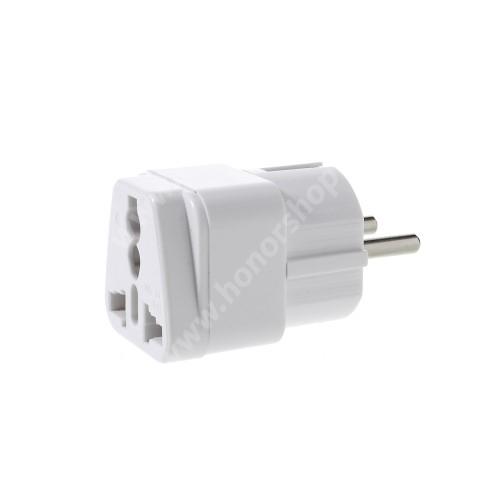 US UK EU AU 4 in 1 utazó töltő / hálózati töltő adapter - max 250 V, 10A  - FEHÉR