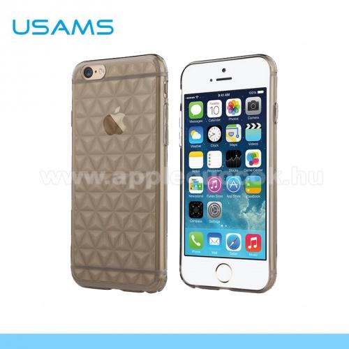 APPLE iPhone 6USAMS DIAMOND szilikon v�d? tok / h�tlap - 3D gy�m�nt mint�s - IP6GL01 - SZ�RKE - APPLE iPhone 6 - GY�RI