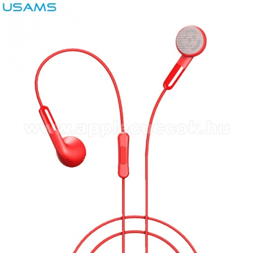 APPLE iPad USAMS EP-16 james bond sztereo headset - 3.5 mm jack, mikrofon, felvevő gomb - PIROS