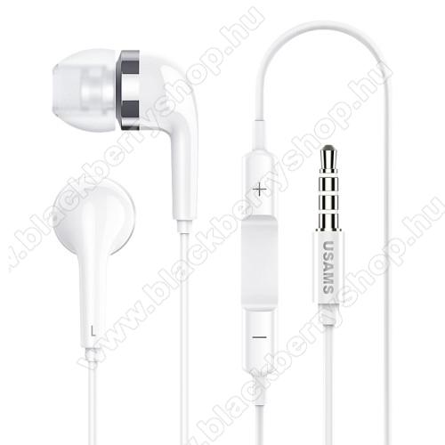 BLACKBERRY DTEK50USAMS EP-23 james bond sztereo headset - 3.5 mm jack, mikrofon, felvevő gomb, hangerőszabályzó - FEHÉR