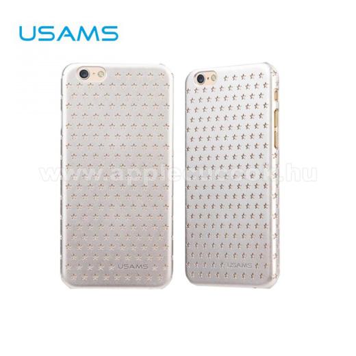 APPLE iPhone 6USAMS STARRY TWINKLE műanyag védő tok / hátlap - lyukacsos csillagmintás - EZÜST - APPLE iPhone 6
