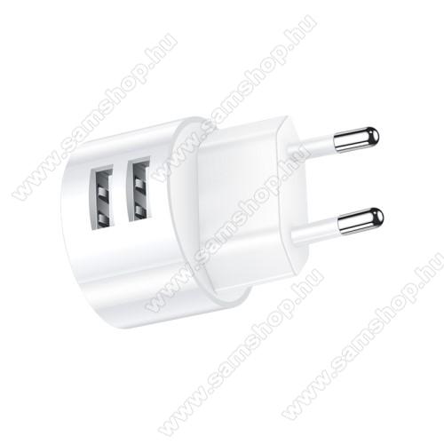 SAMSUNG SGH-X140USAMS US T20 hálózati töltő USB aljzattal - 2 USB aljzattal, 5V/2.1A - FEHÉR - GYÁRI