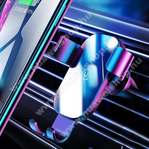 USAMS US-ZJ052 gravity univerzális autós / gépkocsi tartó - FEKETE - szellőzőrácsra rögzíthető, kör alakú szellőzőráccsal is kompatibilis!, 4,5-6,5