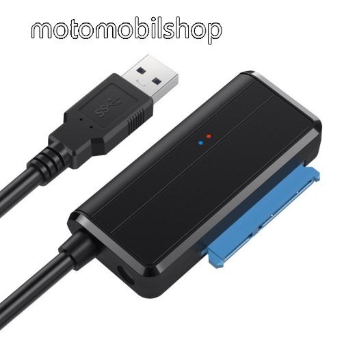 """USB 3.0 2.5 / 3.5"""" HDD / SSD átalakító - lehetővé teszi 2,5 ″ vagy 3,5 ″ SATA merevlemez csatlakoztatását a számítógéphez az USB 3.0 porton keresztül, akár 5 Gbps sebességgel, TÁPKÁBEL NÉLKÜL! (DC5.5 * 2.1mm kábel szükséges hozzá) - FEKETE"""