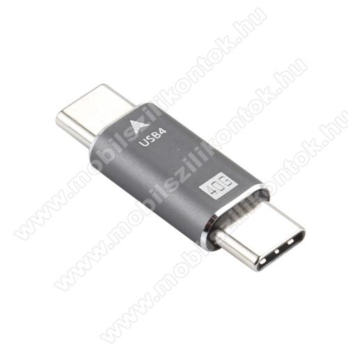USB 4.0 Type-C / Type-C adapter - 40Gbps adatátviteli sebességre is képes - EZÜST