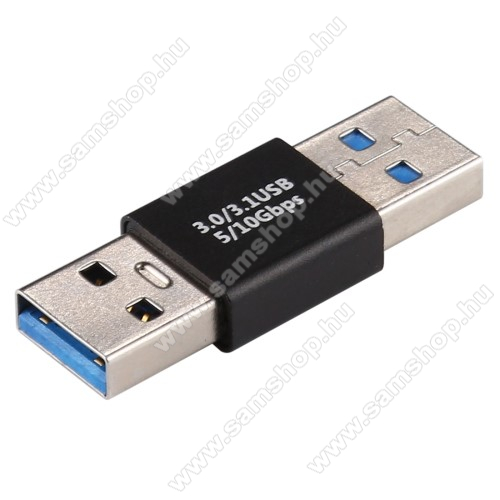 USB Adapter - USB 3.0 APA / USB 3.0 APA - FEKETE - 40 x 14 x 7mm