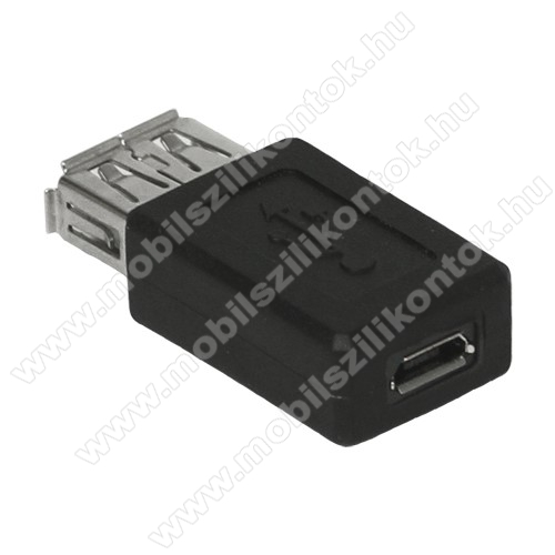 USB Adapter - USB ANYA / MicroUSB - FEKETE
