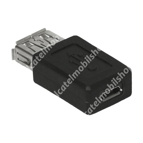 Alcatel OT-810D USB Adapter - USB ANYA / MicroUSB - FEKETE
