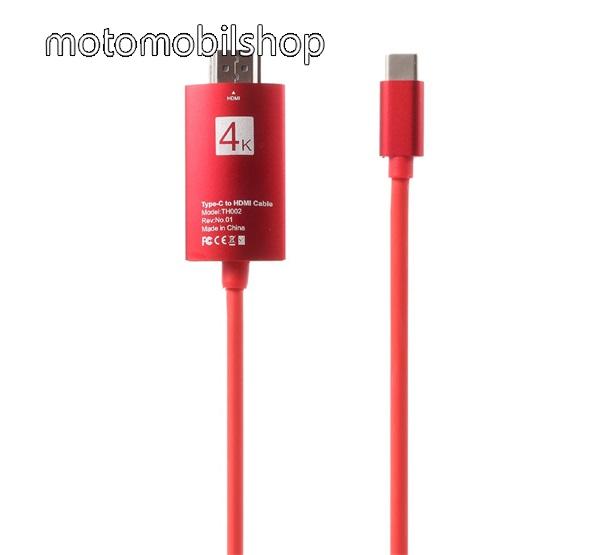 USB Type-C / HDMI 4K MHL (készülékfüggő) adapter - 4k minőség, 200 cm - PIROS