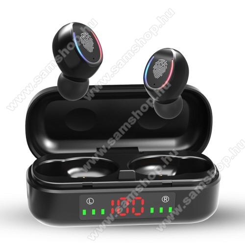 SAMSUNG SGH-F500V8 TWS BLUETOOTH sztereó fülhallgató - V5.0, mikrofon, CVC8.0 zajszűrő, 450mAh töltőtokkal, érintéssel vezérelhető, IPX7 vízállóság, digitális kijelző - FEKETE