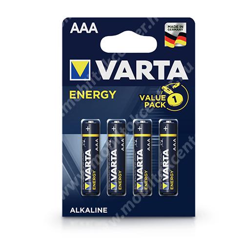 VARTA Energy Alkaline AAA ceruza elem - 4 db/csomag - 1.5V, ZN/MNO2, LR03, VARTA 4103