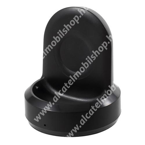Vezeték nélküli töltő / dokkoló állvány - FEKETE - SAMSUNG SM-R600 Galaxy Gear Sport készülékhez