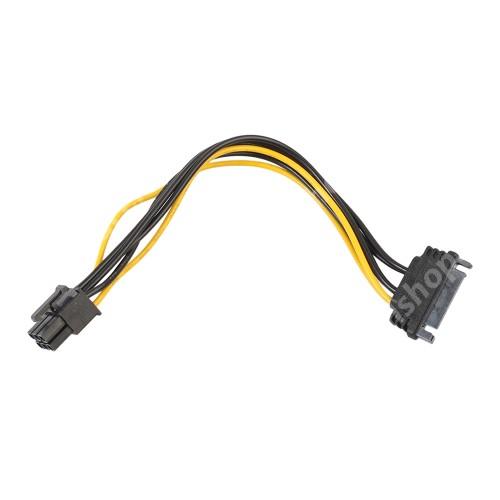 ACER Liquid Z3 Videókártya PCI Express tápkábel -   SATA 15pin / 6pin PCI Express - FEKETE / SÁRGA