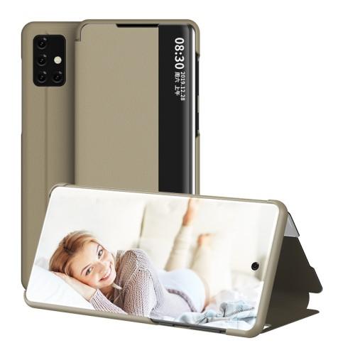 View Window ablakos notesz tok / flip tok - ARANY - oldalra nyíló - SAMSUNG Galaxy A51 (SM-A515F)