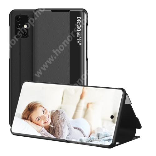View Window ablakos notesz tok / flip tok - FEKETE - oldalra nyíló - SAMSUNG Galaxy A51 (SM-A515F)