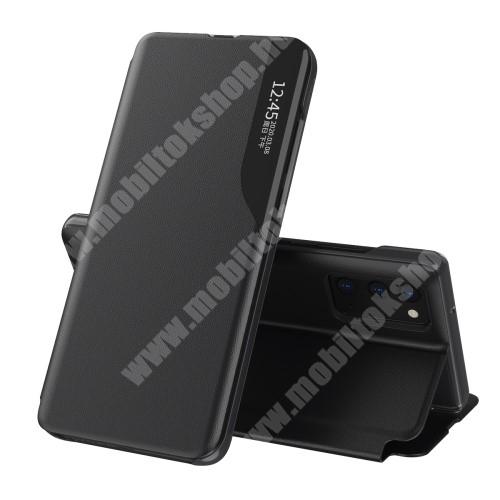 View Window ablakos notesz tok / flip tok - FEKETE - oldalra nyíló, asztali tartó funkciós, műanyag belső - SAMSUNG Galaxy A72 5G (SM-A726F) / Galaxy A72 4G (SM-A725F)