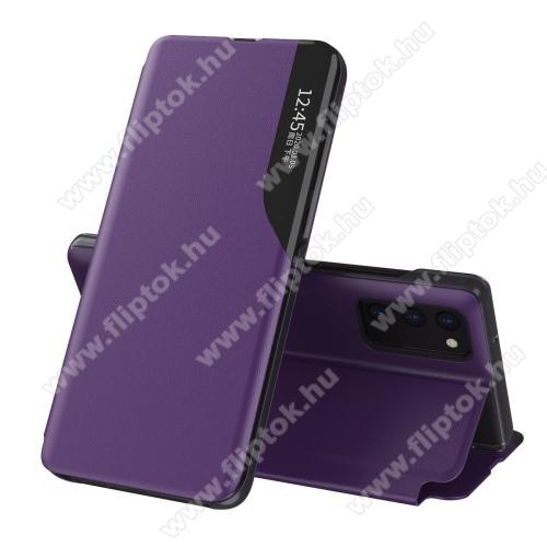 View Window ablakos notesz tok / flip tok - LILA - oldalra nyíló, asztali tartó funkciós, műanyag belső - SAMSUNG Galaxy A52 5G (SM-A526F) / Galaxy A52 4G (SM-A525F)