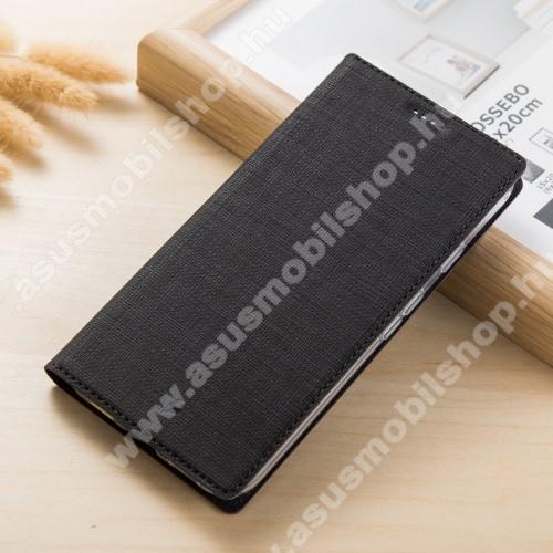 VILI DMX SLIM DESIGN notesz / mappa tok - FEKETE - oldalra nyíló flip cover, asztali tartó funkció, mágneses záródás - ASUS Zenfone 4 Pro (ZS551KL) - GYÁRI