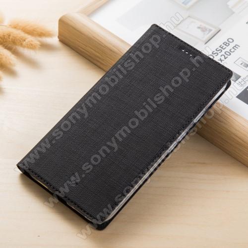 VILI DMX SLIM DESIGN notesz / mappa tok - FEKETE - oldalra nyíló flip cover, asztali tartó funkció, mágneses záródás - Sony Xperia XZ1 - GYÁRI