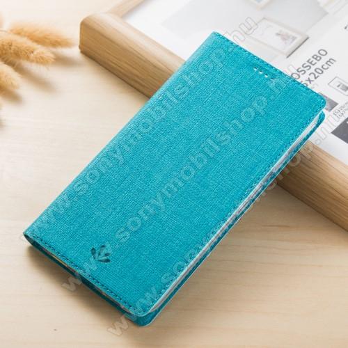 VILI DMX SLIM DESIGN notesz / mappa tok - KÉK - oldalra nyíló flip cover, asztali tartó funkció, mágneses záródás - SONY Xperia XA2 - GYÁRI