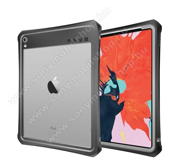 Vízálló Műanyag védő tok / átlátszó hátlap - 3 méterig, IP68-as védelem, szilikon betétes- ERŐS VÉDELEM! - FEKETE - APPLE iPad Pro 11 (2018)