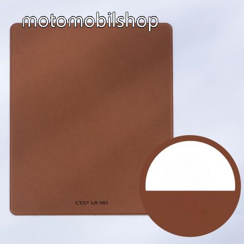 Vízálló PU bőr Egérpad - 27 x 23cm - BARNA